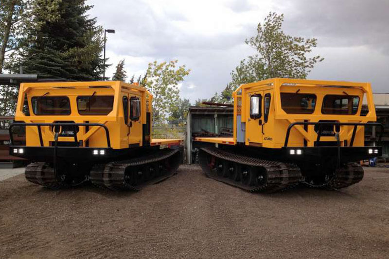 2 AT-80HD Tracked Carriers for low ground pressure applications
